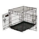 Pet Dog Puppy Cat Training Carrier Cage Crate With Removable Tray And 2 Doors