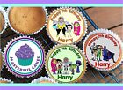24 PERSONALISED TEEN TITANS CUPCAKE TOPPER RICE, WAFER or ICING