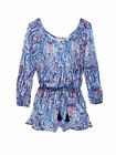 Victoria's Secret Long-sleeve Cover-up Romper sz S M L in blue