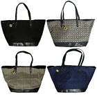 Tommy Hilfiger Purse Womens Large Shopper Jacquard Classic Shoulder Bag Th New