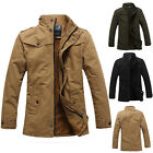 Fashion Men's Slim Collar Jacket Winter Coat Tops Casual Coat Outerwear Overcoat