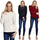 New Ladies Cable Knit Side Split Long Sleeve Brave Soul Jumper Cardigan Sweater
