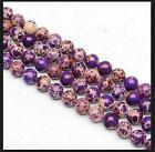 """0072 Natural 6,8,10mm purple Emperor Stone Round Beads 16"""" The emperor stone"""