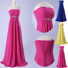 Strapless Sexy Long Formal Evening Party Ball Gown Bridesmaid Wedding Maxi Dress