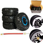 "4PCS 2.2"" Inflatable Tires W/ Alloy Beadlock Wheels For 1/10 RC Crawler CAR New"