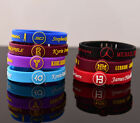 Lot Silicon Bracelet Basketball DURANT BRYANT CURRY LEBRON adjustable Wristband