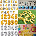 Alphabet Letter Number Metallic Foil Balloons Wedding Party Birthday Decorations