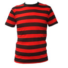 UNISEX FANCY DRESS DENNIS THE MENACE STYLE RED AND BLACK T-SHIRT COSTUME STAG DO