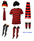 UNISEX FANCY DRESS DENNIS PARTY MENACE STYLE RED AND BLACK T-SHIRT COSTUME STAG