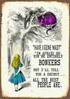 Metal Vintage Shabby-chic Tin Sign Alice In Wonderland Plaque / Fridge Magnet