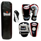 Morgan Boxing Punching Bag Punch Focus Pads Gloves Gym MMA 3ft Filled ANBF APP