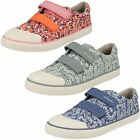 Clarks Girls Canvas Doodles 'Brill Ice'