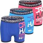3 Pack Mens Crosshatch Designer Boxer Shorts Boxers Underwear Trunks Gift Set <br/> Same Day Dispatch- Sizes S M L XL XXL
