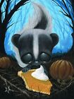 Jack Smellington by Sugar Fueled Halloween Skunk Tattoo Canvas Fine Art Print