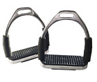 FLEXI SAFETY STIRRUPS HORSE RIDING BENDY IRONS STAINLESS STEEL