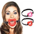 Lip Shape Open Mouth Ball Oral Leather Soft Fixation Harness Slave Toy Costume W