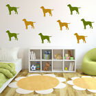 Labrador Silhouette Dogs Creative Multipack Wall Stickers Home Decor Art Decals