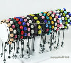 New 10mm*9 CZ Crystal Clay Disco Ball Micro Pave Shamballa Adjustable Bracelets