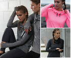 Ladies Cowl Neck Long Sleeve Hoodie Running Training Sports Gym Hooded Top JC038