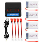 2pcs/4pcs 800/1200mAh 3.7V Lipo Battery+4in1 Charger w/ Cable for Syma X5HW X5HC