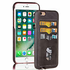 PU Wallet Credit Card Holder Cover Leather Thin Back Case For iPhone 6 6s Plus