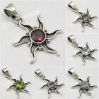 925 Solid Silver Antique Look Handcrafted STAR Chakra Pendant Jewelry Store