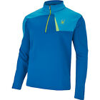 spyder mens charger therma stretch t-neck half zip fleece electric blue sizes