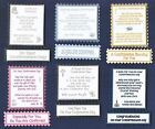 6 CONFIRMATION Greeting Card Craft Verse Toppers W/WO Matching Sentiment Banners