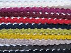 12mm COTTON WAVE BRAID Blinds Lampshades Costume Upholstery Furnishing Gimp Trim