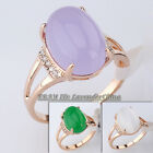 A1-R3118 Fashion Simulated Gemstone 18KGP Ring Rhinestone Crystal Size5.5-9