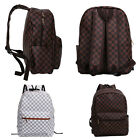 HCUK Ladies Fashion Follow Seoul Checkered Pop Faux Leather Backpack Rucksack