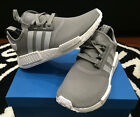 Adidas NMD_R1 Runner Junior Charcoal Grey White GS Sz 3.5-7y Girls Kid S80204 DS