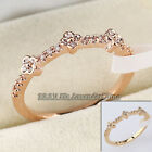 E2-R007 Fashion Micro Inlays Flower 18KGP CZ Ring Pave Prong Setting Size 5.5-8