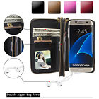 Card Holder Leather Wallet Mirror Phone Case Cover For Samsung Galaxy Note 5 4 3