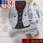2pcs/Set Toddler Baby Boys Kids Shirt Tops+Long Pants Clothes Outfits Gentleman