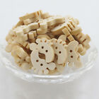 Shape feet Wood Sewing Crafts Accessories 2 Holes Natural Color Buttons