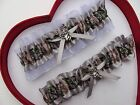 NEW Mossy Oak Camouflage Camo Silver White Wedding Garter Prom Sexy Hunter Chick