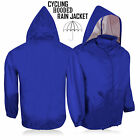 Cycling Rain Jacket Hooded Outdoor Running Light-Weight Long Sleeve Jacket -Blue