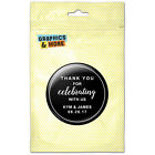 Black Line Thank You Celebrating Us Personalized Refrigerator Button Magnet
