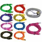 3/6/10FT Braided Lightning Sync Data Cable USB Charger for iphone 5 6 6s 7 Plus