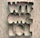WTF OMG LOL funny words fondant baking stainless steel cookie cutter set 8644