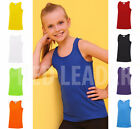 Kids Vest Childrens Running Training Gym Sports Breathable Sleeveless Tank Top