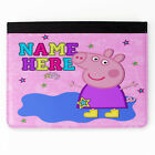 Personalised Peppa Pig Girls Faux Leather Apple iPad Tablet Cover Case PP03