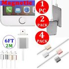 4X 2X 2M 6FT Strong Adsorption Magnetic USB Charging Cable For iPhone 5 6 7 Plus