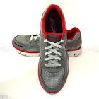 Men's SKECHERS 51324R Synergy Replicate Sneakers RUNNING Shoes NEW Gray Red CCRD