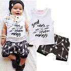 Infant Kids Baby Boy T-shirt Tops+Shorts Pants Summer Outfits Clothes Set