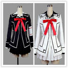 HOT!!! Vampire Knight Cosplay Costume Yuki Cross White or Black Womens Dress