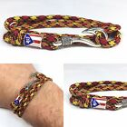 Camo Camouflage Puerto Rico Handmade Paracord Fish Hook Bracelet - Made in USA