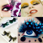 Charms Colorful Modelling Stage Feather False Eyelashes Eye Lashes Ladies Gifts