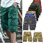 City Men Casual Gym Combat Cargo Chino Summer Shorts Multi Pocket Pants Trousers